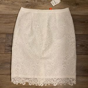 Joe Fresh White Lace Pencil Skirt Sz 4